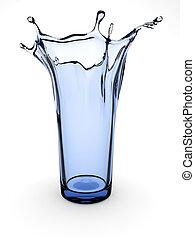 glas, spritzen