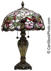 glas, tiffany, lampe, tabel