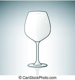 glas, tom, vin