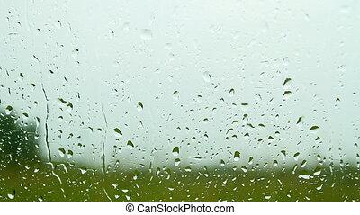 glas, Tropfen, Regen