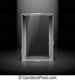 glas, utställningsmonter