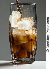 glas, van, cola