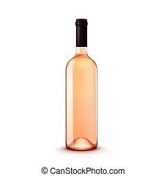 glas, vector, fles, wijntje