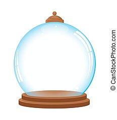 glas, vector, kerstmis bal