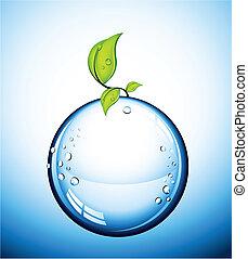 glas, vektor, boll
