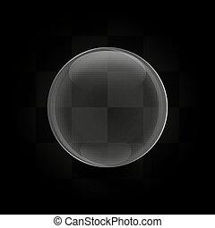 glas, vektor, kugelförmig