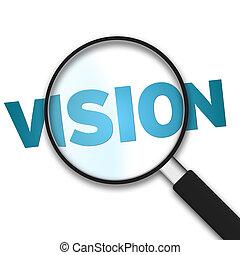 glas, -, vergrößern, vision
