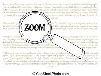 glas, vergrößern, zoom