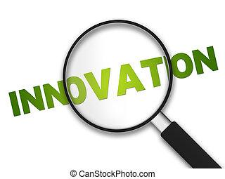 glas, -, vergroten, innovatie