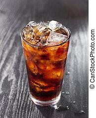 glas, von, kolabaum, mit, ice.
