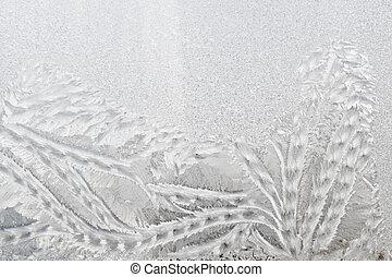 glas, winter, bereift