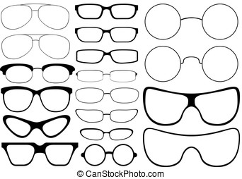 Glases - illustration of different glases isolated on white...