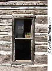 glasfenster, altes , scheune