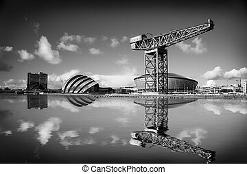 Glasgow - glasgow landscape and river clyde