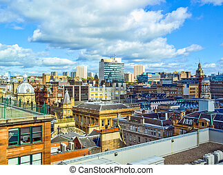 Glasgow HDR - High dynamic range HDR Aerial view of the city...