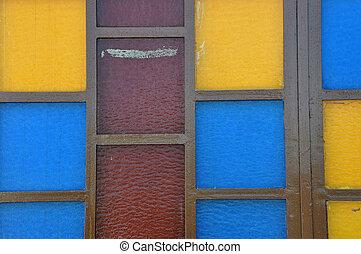 glasmalerei, abstrakt