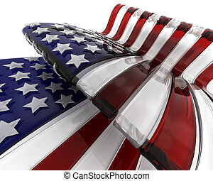 Glass American flag