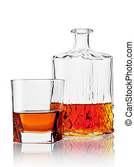 Glass and carafe of cognac