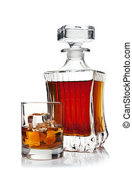 glass and decanter of brandy - glass and decanter of brandy...
