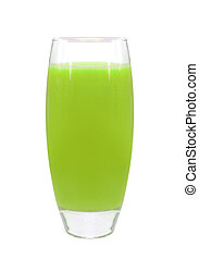 Glass apricot juice
