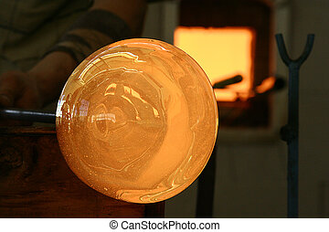 glass background - Image of a factory producing glass cup