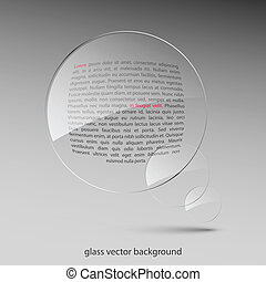 Glass background. Vector illustration. Eps10
