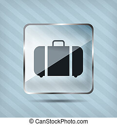 glass baggage icon