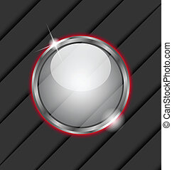 Glass ball as vector speech bubble