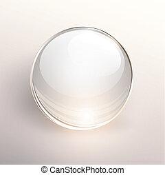Glass ball background - Empty glass ball on light...