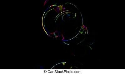 glass ball, color soap bubble