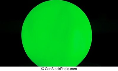 Glass ball is highlighted in different colors