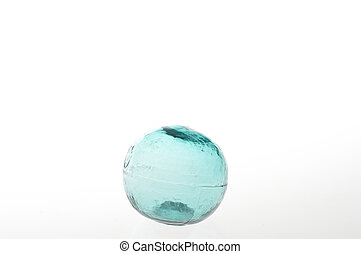 Glass ball on a white background