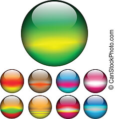 Glass ball; spheres vector. - Glass spheres, balls...