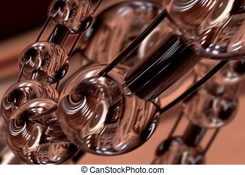 Glass Balls on Rings Rotating