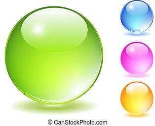 Glass balls set