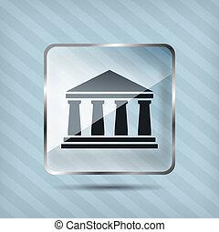 glass bank icon