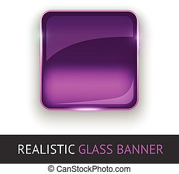 Glass banner for your design.