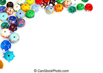 Glass bead border - blown glass beads border, with...