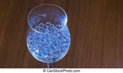 Glass beads in the goblet