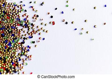 Glass beads - macro