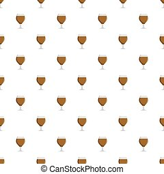 Glass beer pattern seamless