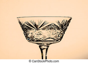 glass beverage - glass for drinks on a nice colored...