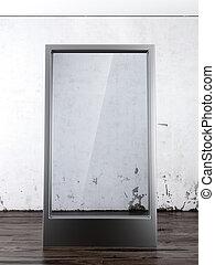 Glass Billboard in interior