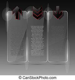 Glass billboard. Vector illustration. Eps10