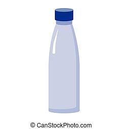 glass bottle flat illustration on white