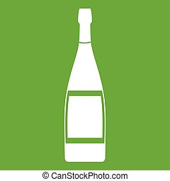 Glass bottle icon green
