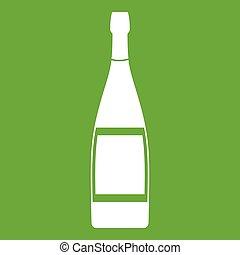 Glass bottle icon green