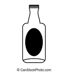 glass bottle isolated icon