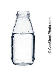 Glass bottle, isolated on white background
