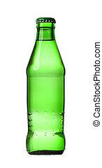 glass bottle isolated on white background